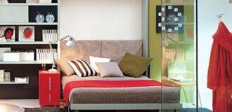 مبلمان تخت خواب شو کمجا برای اتاق خواب کوچک