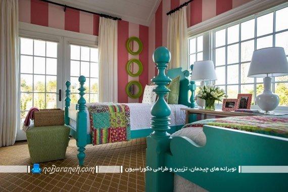 طراحی دکوراسیون با رنگ فیروزه ای / عکس