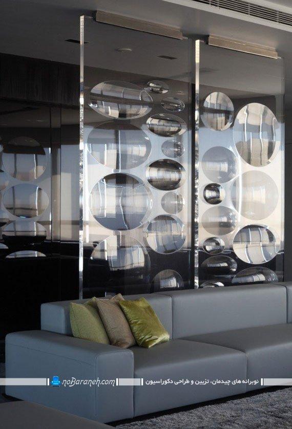 پارتیشن شیشه ای حباب دار