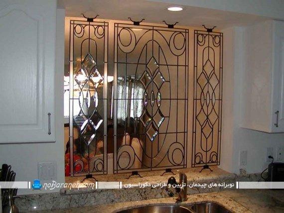 پارتیشن شیشه ای با طرح های برجسته