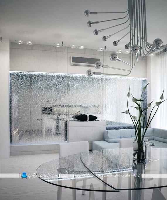 آبنما و پارتیشن شیشه ای مدرن