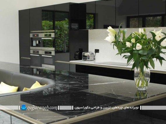 میز جزیره آشپزخانه با طراحی مدرن