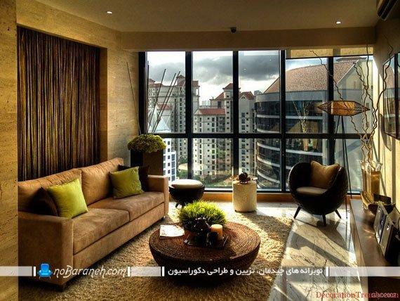 مبل راحتی و صندلی فانتزی در اتاق نشیمن