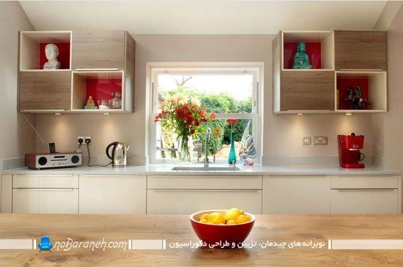تزیین آشپزخانه با کابینت های دو قلو