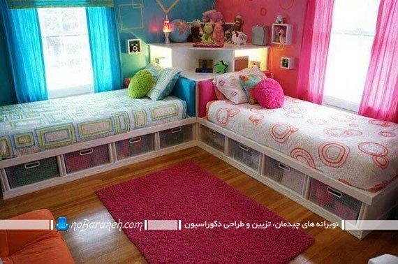 هارمونی رنگهای پسرانه و دخترانه در اتاق کودک