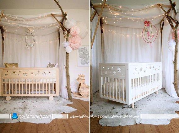 تزیین فضای اطراف تخت نوزاد