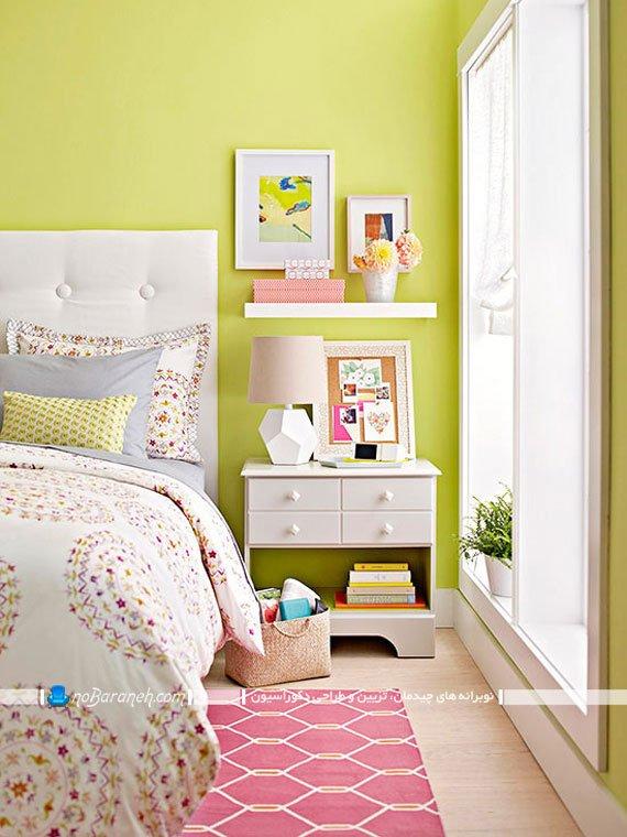 تزیین اتاق عروس با رنگ های شاد مثل سبز و صورتی
