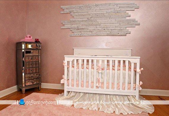 اتاق خواب نوزاد با چیدمان ساده و خلوت