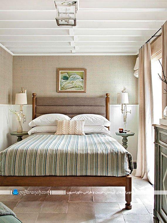 رنگ بندی اتاق خواب عروس با کرم و قهوه ای