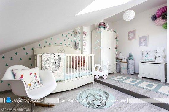 دکوراسیون اتاق نوزاد دختر تزیین اتاق خواب کوچک نوزاد دختر