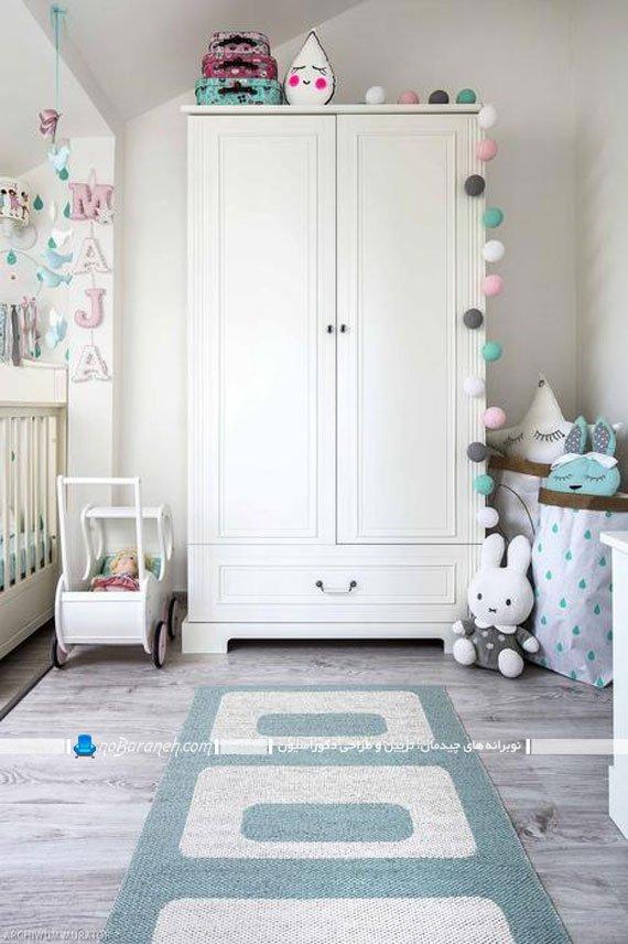 مبلمان و سیسمونی اتاق نوزاد دختر چیدمان مبلمان اتاق نوزاد
