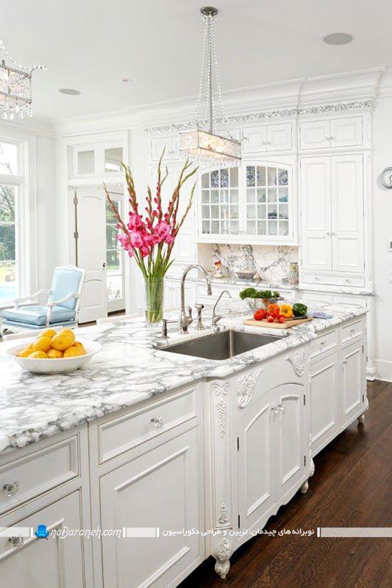 تزیین دکوراسیون آشپزخانه با گل های طبیعی