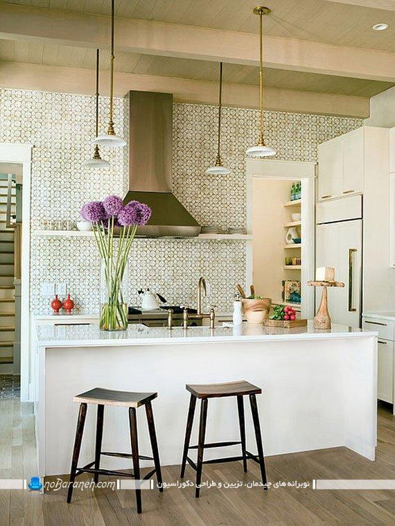 زیبا سازی دکوراسیون آشپزخانه با گل ها