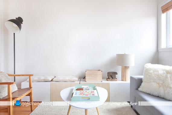 مدل های متنوع تزیین دیوار ساده و سفید رنگ
