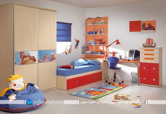 رنگ آمیزی اتاق کودک پسر با آبی و قرمز دکوراسیون اتاق کودک و نوجوان با رنگ های سرد و گرم