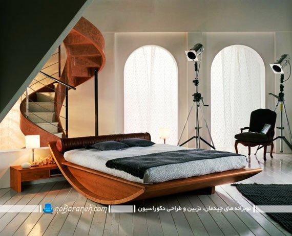 تخت خواب عروس با طرح و مدل کمیاب راک