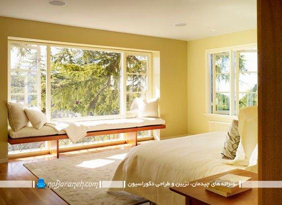 طراحی و تزیین اتاق خواب منزل با رنگ زرد