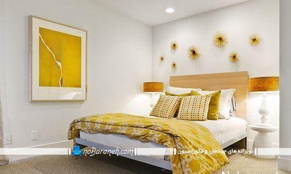 دیزاین اتاق خواب با رنگ زرد