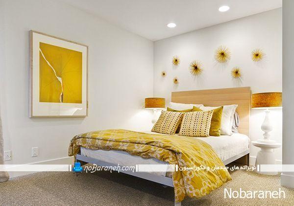 تزیین شیک و مدرن اتاق با رنگ زرد