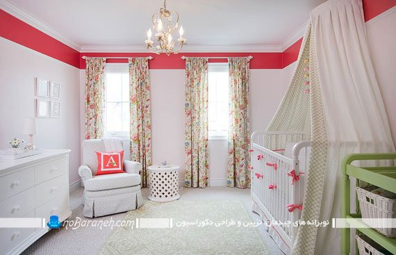 تزیین اتاق نوزاد دختر با ایده های خلاقانه