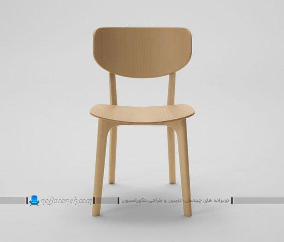 صندلی تک نفره چوبی بدون دسته