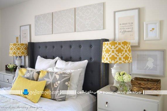 رنگ زرد در دکوراسیون و تزیینات اتاق خواب