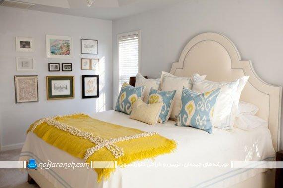 تزیین اتاق عروس سلطنتی با زرد و سفید
