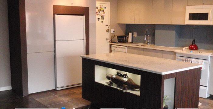 کابینت و قفسه بندی فضای خالی اطراف یخچال و فریزر