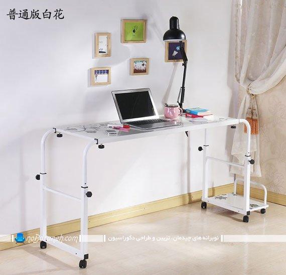 میز چرخ دار و متحرک برای استفاده در روی تخت خواب