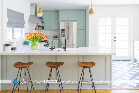 لوستر و چراغ روشنایی اپن آشپزخانه چراغ ساده و ارزان قیمت میز اپن