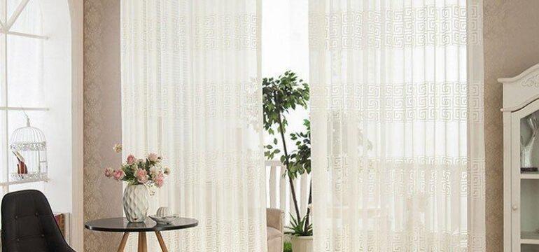 پرده شفاف و شیشه ای طرح دار برای پنجره نورگیر