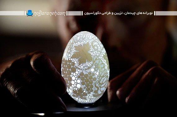 مدل چراغ رومیزی به شکل صنایع دستی