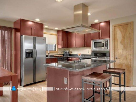 عکس مدل های جدید کابینت آشپزخانه با ایده های فضاسازی