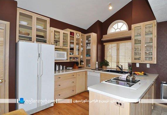 نصب کابینت در بالای یخچال آشپزخانه