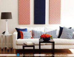 طراحی دکوراسیون شیک، ساده و زیبا در اتاق نشیمن