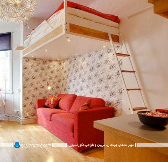 تخت دو طبقه بزرگسال به شکل دوبلکس