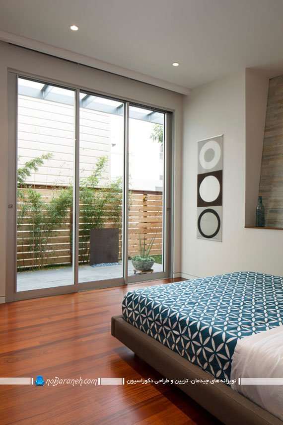 پنجره کشویی تمام قد برای اتاق خواب
