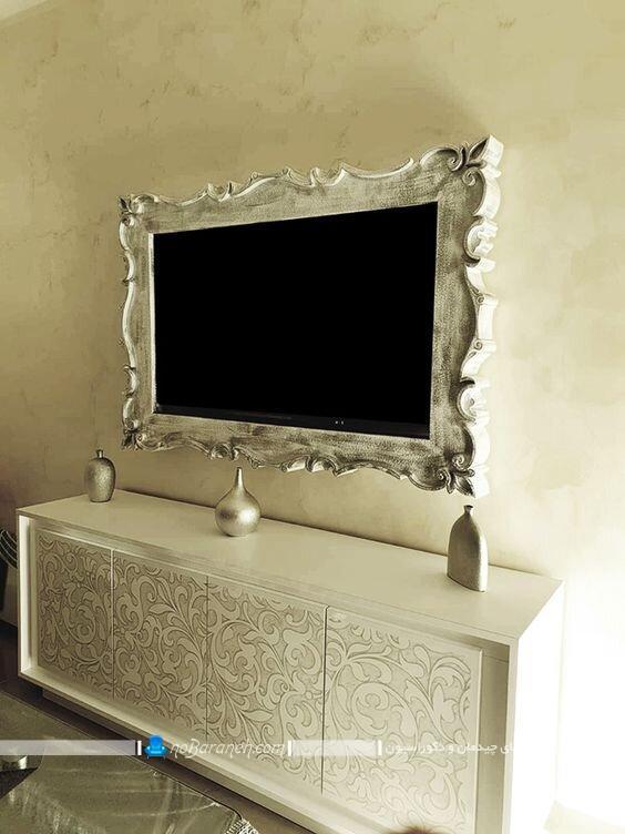 مدل های تزیین تلویزیون دیواری (led). طرح های جدید و شیک برای دکور تلویزیون روی دیوار. عکس مدل های دکوراسیون تی وی نصب شده به دیوار