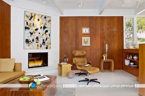 تزیین شومینه مدرن با سنگ دکوراتیو تزیین دیوارهای شومینه با سنگ آنتیک