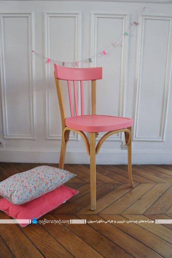 رنگ زدن و نقاشی صندلی قدیمی