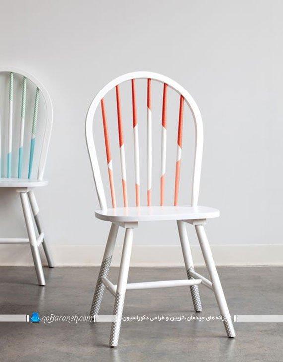 ایده های رنگ زدن صندلی چوبی قدیمی