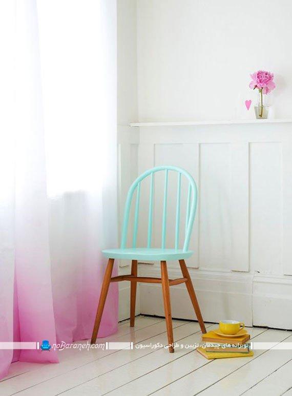 مدل رنگ زدن و نقاشی صندلی چوبی