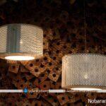 ساخت لوستر و چراغ برای نورپردازی خانه با درام لباسشویی