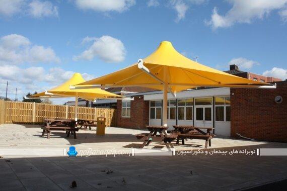آلاچیق متحرک فضای باز. سایبان چتری فضای باز منزل و حیاط خانه و باغ ویلا