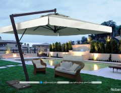 مدل سایبان ویلایی بزرگ و چتری برای حیاط خانه