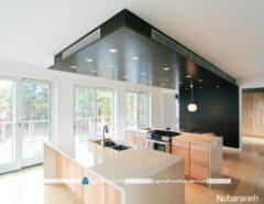 سقف کاذب نورپردازی شده برای آشپزخانه مدرن