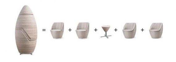 میز و صندلی چهار نفره برای فضای باز