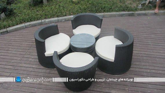 مبلمان ویلایی کمجا برای چیدمان در فضای باز