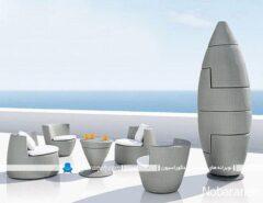 مدل مبلمان فضای باز برای باغ و خانه های ویلایی