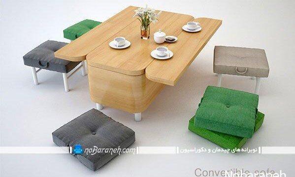 کاناپه کمجا و کوچک برای خانه های نقلی و دانشجویی